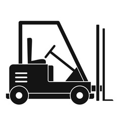 forklift icon simple style vector image