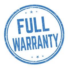 full warranty sign or stamp vector image