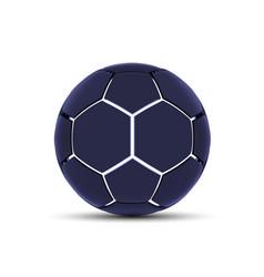 futuristic sports concept of a soccer ball vector image