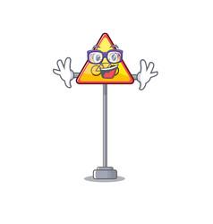 Geek no cycling character shaped a mascot vector