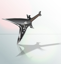 heavy metal guitar vector image
