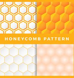 honeycomb pattern set honeycomb seamless pattern vector image