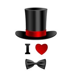 I love gentleman card vector image