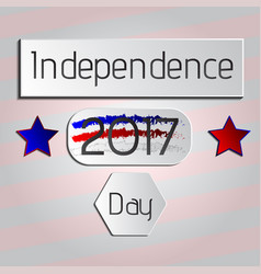 independence day 2017 holiday tag vector image