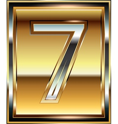 Ingot Font Number 7 vector