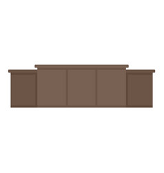 Judge table icon flat style vector