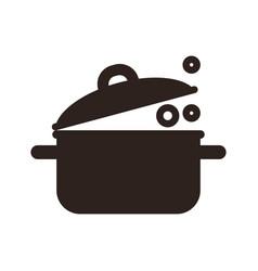 Kitchen pot icon vector
