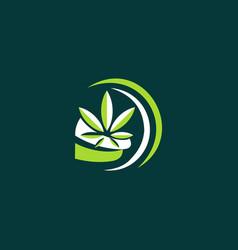 leaf marijuana medical healthcare logo vector image