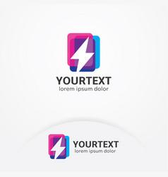 lightning bolt logo vector image