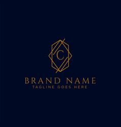 Luxury logotype premium letter c logo with golden vector