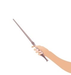 magic wandin hand for witches and wizards vintage vector image