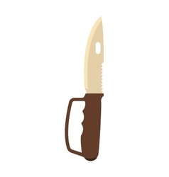 Military hunter knife vector image