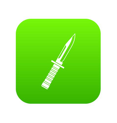 military knife icon digital green vector image