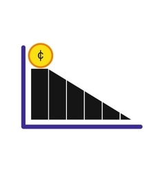 Modern flat icon economic graph on white vector