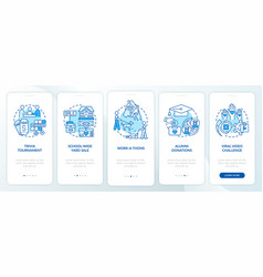 Money donation ideas onboarding mobile app page vector