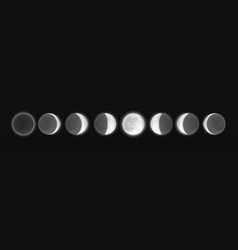 Moon eclipse different phases realistic vector