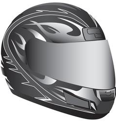 Motorcycle helmet vector