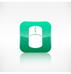 Mouse web icon Application button vector