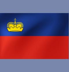 National flag lichtenstein for sports vector