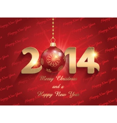 new year bauble background 2211 vector image