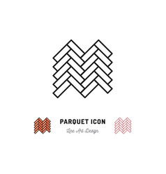 Parquet icon wooden floor symbol thin vector