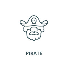 pirate line icon linear concept outline vector image