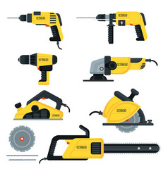 power tools set vector image