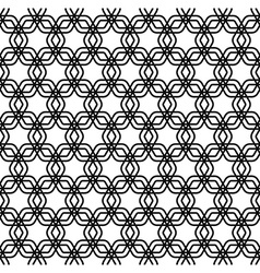 Repeating black and white grid pattern vector image