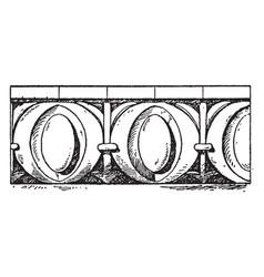 Roman egg-and-dart moulding erechtheion vintage vector