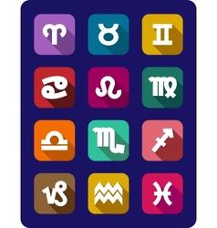 set icons signs zodiac vector image