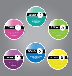 Set of six labels icons vector