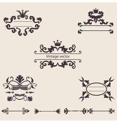 set of vintage ornament vector image vector image