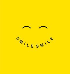 Smile logo template design vector