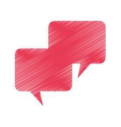 Speech bubbles message isolated icon vector