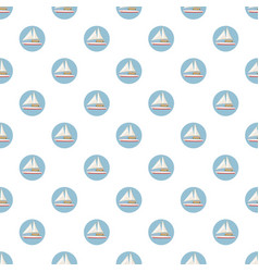 Speed boat with sail pattern vector
