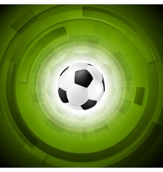 Sport tech football background vector