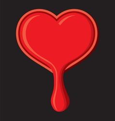 Srce kaplje crno resize vector image