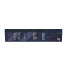 Stock Exchange Index Monitoring Concept vector