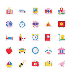 Summer and holidays icons 7 vector