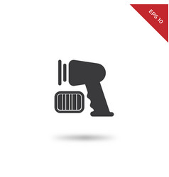 supermarket scanner icon vector image