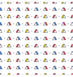 Triangles with dots on white background seamless vector