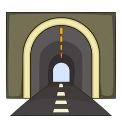 Tunnel icon cartoon style vector image