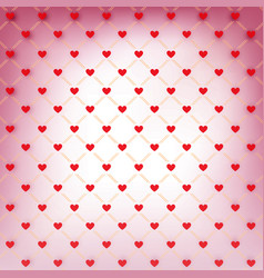 valentines day wrapping paper with red hearts vector image