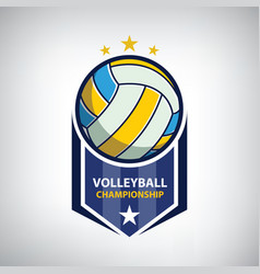 Volleyball championship logo vector