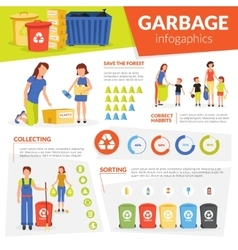 Waste Collecting Sorting Recycling Infographic vector image