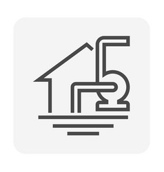 Water flooding icon vector