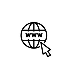 website online internet icon global url vector image