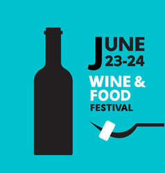 wine and food festival vector image