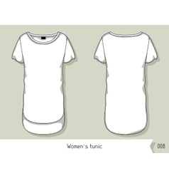 Women tunic Template for design easily editable vector image