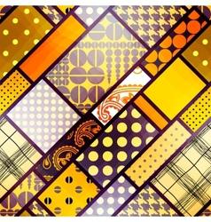 Yellow geometric pattern vector